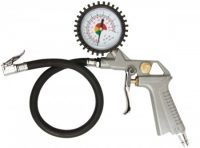 Pistol grip air inflator with gauge (45009V)