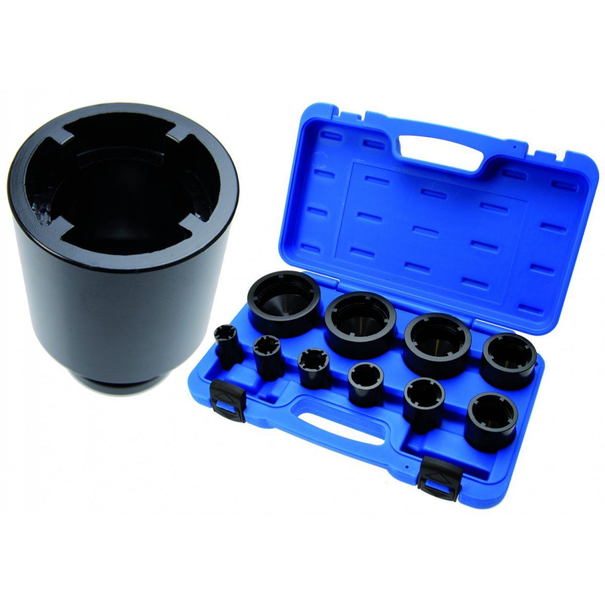 10-piece Special Socket with Inside Tooth for Grooved Nut