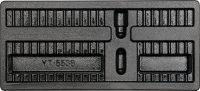 """Tuščias padėklas į spintelę antgaliams/bitukams 10mm (3/8"""") 40 vnt. (YT-55381)"""