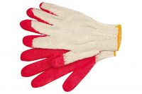 ONE SIDE COATED GLOVES 21CM / 1 PAIR (74162)