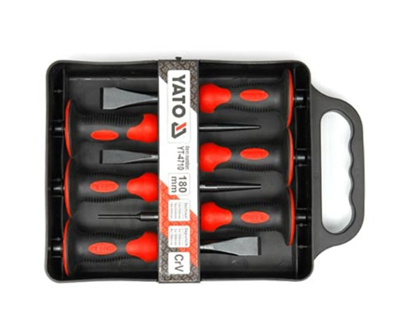 6-piece Chisel and punch set  (YT-4710)