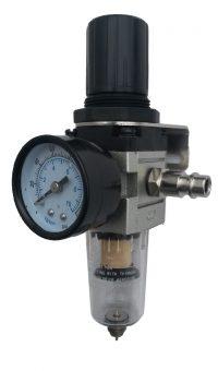 """Drėgmės filtras su reguliatorium ir manometru 1/4"""" (LG-12)"""