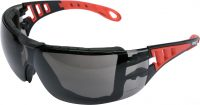SAFETY GLASSES W/ GREY LENSES AND STRAP (YT-73701)