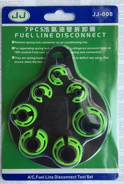 Pipe Connector Loosening Clip Set   7 pcs. (JJ008-Green)