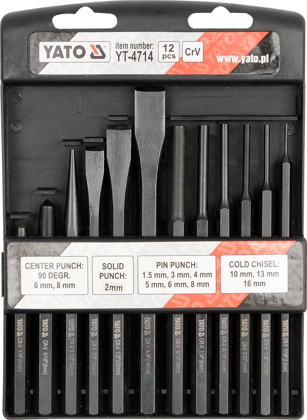 12 pc. Pin Punch & Drift Set (YT-4714)