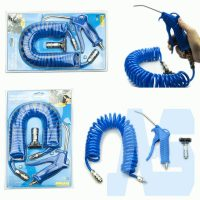 Air blow gun compressor with recoil hose steel nozzle compressed air dust blow PU 4x6mm (SK98210A)