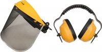 FACE SHIELD WITH STEEL MESH AND EAR MUFF (74462)