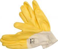 "WORKING GLOVES RUBBER COATED YELLOW 9"" (YT-7480)"