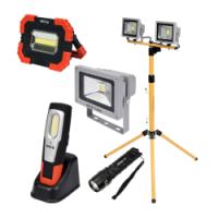 Lukturi, prožektori un darba lampas