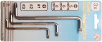 L- Type Wrench Set | Slot SL/cross slot | 3 pcs. (7982)