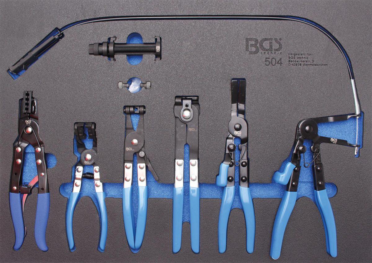 Tool Tray 3/3: Hose Clamp Pliers Set (504)