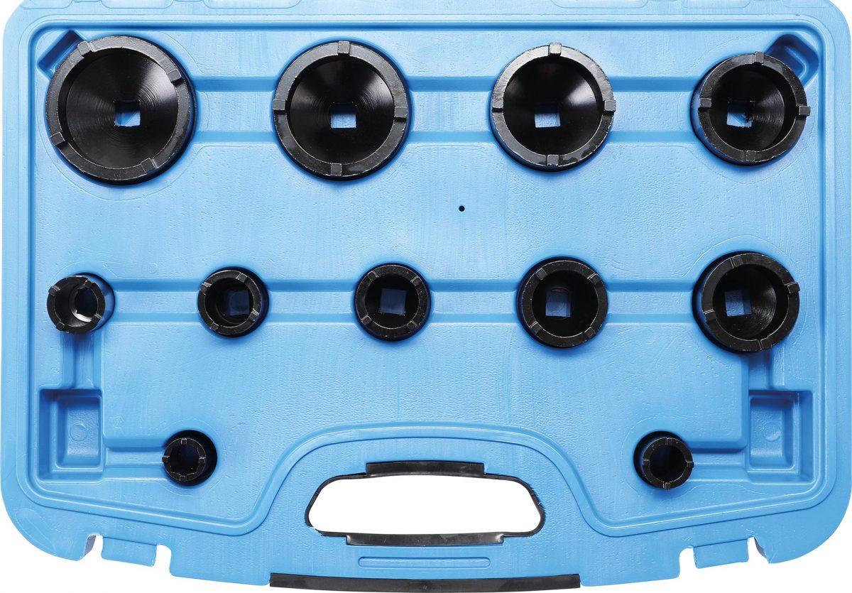 Groove Nut Socket Set | outside taps | KM0-1-2-3-8-9 | 11 pcs. (8265)