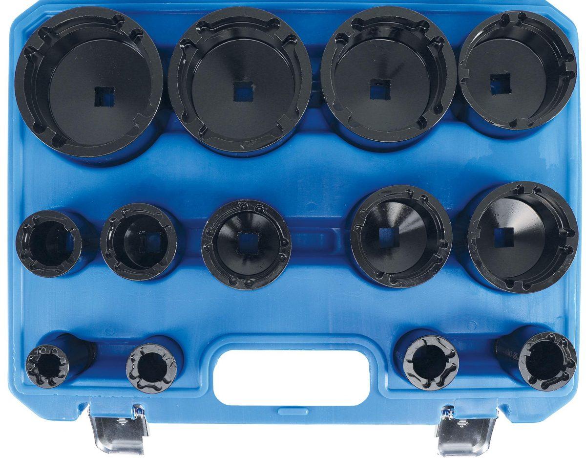 Grooved nut wrench set | Internal pins | KM0 - KM12 | 13 pcs (9385)