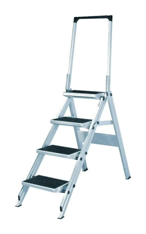 Safety step with handrail 4 steps 6061